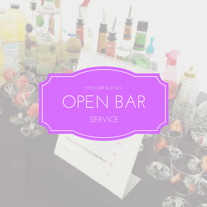 Missouri Blends OPEN BAR PACKAGE